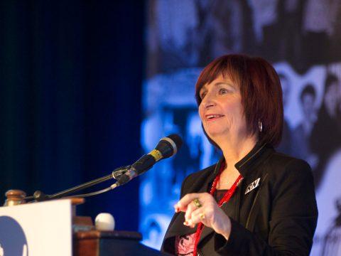 Debbie Delivering a Speech