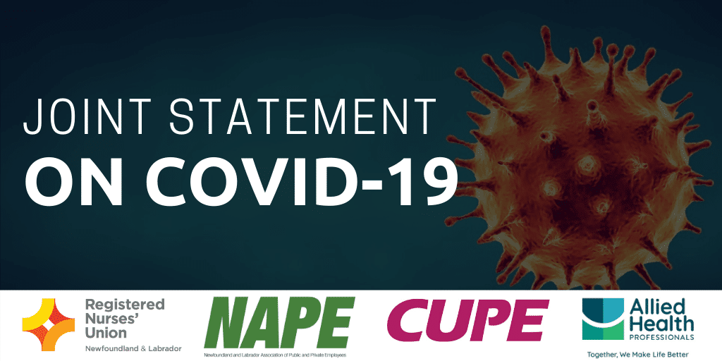 Joint Statement: Keeping Health Care Workers Safe during the COVID-19 Pandemic