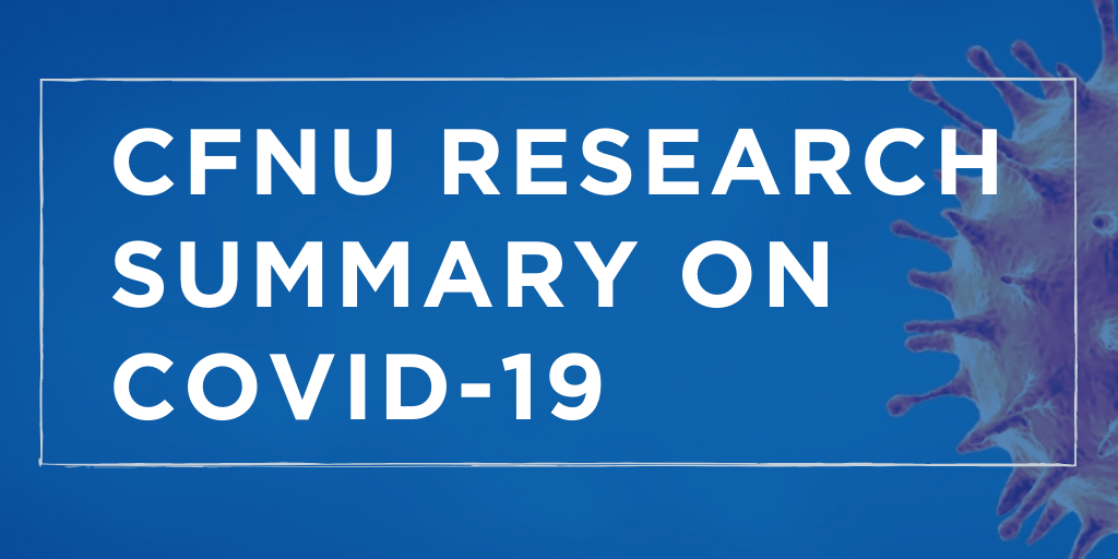 CFNU Research Summary on COVID-19