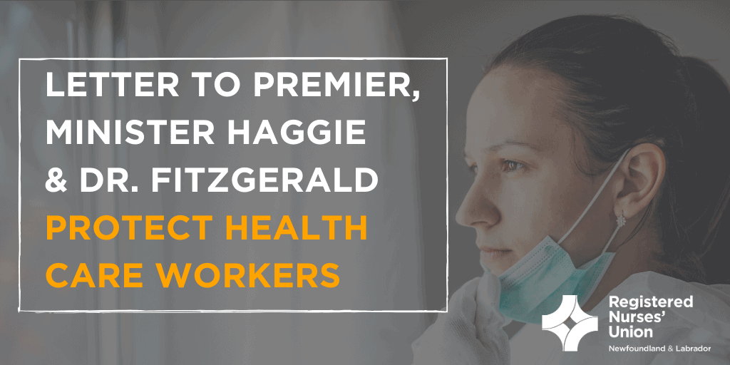 Letter to Premier, Minister & Dr. Fitzgerald: Protect Health Care Workers