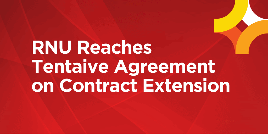 RNU Reaches Tentative Agreement on Contract Extension